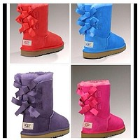 """UGG"" Fashion Winter Women Cute Bowknot Flat Warm Snow Ankle Boots"