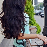 """LONG and THICK - 26"""" Inch Dark Brown Clip In Human Hair Extensions"""