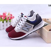 New Balance Popular Casual All-match N Words Breathable Couple Sneakers Shoes 1#