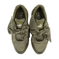 """ PUMA"" Rihanna Bows Green/Pink  Running Shoes Shoes Green"