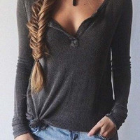 Cupshe Free Love Basic Plunging Top