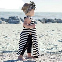 Summer girl dress kids clothes for children Striped baby dress for girls free cut clothes baby girl dresses princess Dress