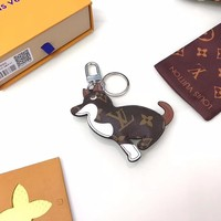 KUYOU Louis Vuitton puppy key chain this lovely Dog bag with a key chain LV