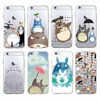 Cute Totoro Spirited Away Ghibli Miyazaki Anime Kaonashi  Soft Clear Phone Case For iPhone 7 7Plus 6 6S 6Plus 5 5S SE 5C SAMSUNG
