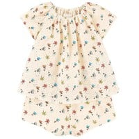 Baby Girls Floral And Lace Onesuit (Mini-Me)