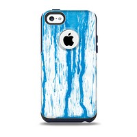 The Running Blue WaterColor Paint Skin for the iPhone 5c OtterBox Commuter Case
