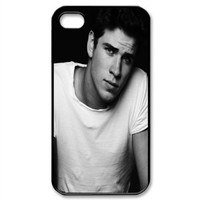 liam hemsworth Snap-on Hard Case Cover Skin compatible with Apple iPhone 4 4S 4G