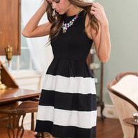 Here's Looking At You Dress, Black