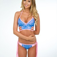 "Meg Liz Swimwear ""Grace Bay"" Reversible Bikini Set"