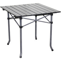 Aluminum Roll Slat Dove Grey Table   Overstock.com Shopping - The Best Deals on Camp Furniture