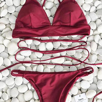 Cupshe Nobody Knows Cross Bikini Set