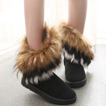 Warm Winter Women Snow Boots With Fur Female Footwear Ladies Winter Shoes Ankle Boots Ladies Casual Shoes Women Boots Yst910