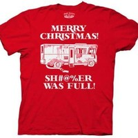 Merry Christmas Shitter Was Full Griswolds Adult T-Shirt, Red ,XXL