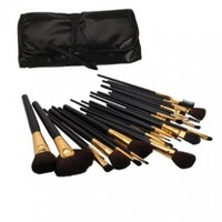 Generic Professional Cosmetic Makeup Brush Set Kit with Synthetic Leather Case,black
