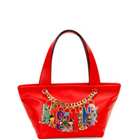 Looney Tunes Leather Charm Tote, Red - Moschino