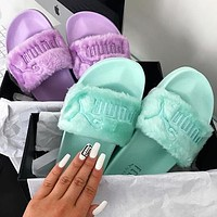Puma X Rihanna Leadcat Fent Lover Fur Slipper Shoes
