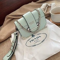 Prada Playful Cute Tongue Elements Shoulder Bag Buckle Bag Handbag Bag