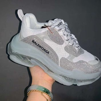 Balenciaga Triple-S gypsophila thick bottom all-match men and women old shoes