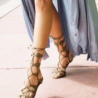 Free People Lina Lace Up Gladiator Sandals