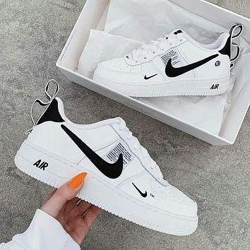 NIKE AIR FORCE 1 AF1 OW Running Sport Shoes Sneakers white