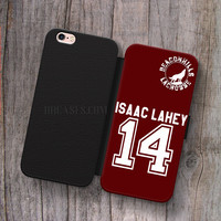 Wallet Leather Case for iPhone 4s 5s 5C SE 6S Plus Case, Samsung S3 S4 S5 S6 S7 Edge Note 3 4 5 Teen Wolf isaac Lahey Cases