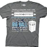 Dr Who Wibbly Wobbly Quote Men's T-shirt