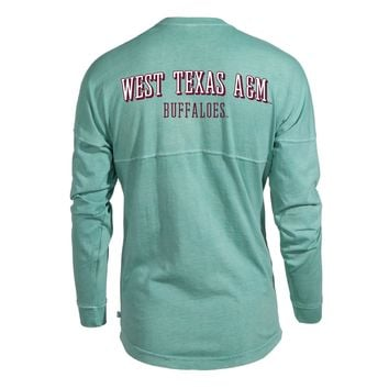 West Texas A&M Buffaloes NCAA T-Shirt Women's Long Sleeve Spirit Wear Jersey T-Shirt