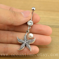 starfish Belly Button jewelry, starfish belly button ring,starfish Navel Jewelry,friendship belly button jewelry