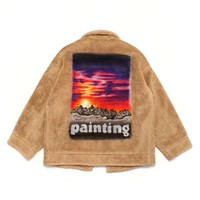 HAND PAINTED FUR JACKET