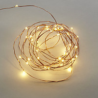 "42"" copper twinkle string lights"