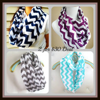 2 For 30 Deal Chevron Infinity Scarf, Color choice at checkout