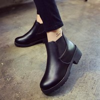 Hot Deal On Sale Stylish Dr. Martens Winter Strong Character Simple Design Cotton Boots [7993619585]