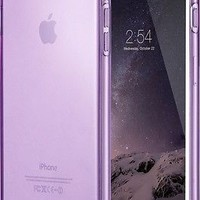 Apple iPhone 6s /6 Plus Case Slim Transparent Clear Soft TPU Cover Rubber Purple