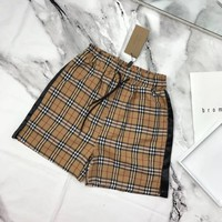 burberry Letter Printed Sports Shorts Pants