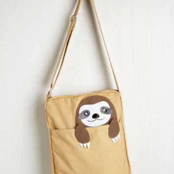 Critters Got One Friend in My Pocket Bag in Sloth by ModCloth