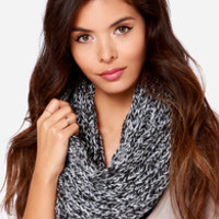 Popular on YouTube Black and Ivory Infinity Scarf