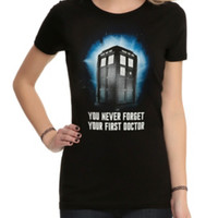 Doctor Who Never Forget Your First Doctor Girls T-Shirt