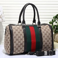 Gucci Women Fashion Leather Luggage Travel Bags Tote Handbag Crossbody