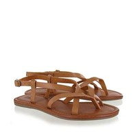Mia Shoes Cruise Strappy Sandals in Tan