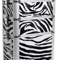 Empire Cosmetics & Makeup Beauty Trolley Zebra ultra-cool makeup case is a sleek, cutting edge containment device perfect for beauty storage