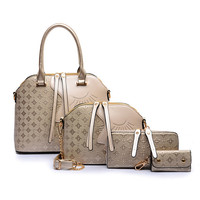 4 Pieces Designer Women Bags Crocodile Leather Purses And Handbags High Quality Free shipping!