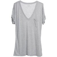 Felicity V-Neck Tshirt With Turn Up