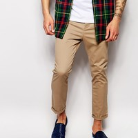 ASOS Skinny Chinos In Cropped Length