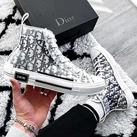 Hipgirls DIOR HIGH -TOP SNEAKER Sneakers transparent plastic skate shoes Women Men Shoes White