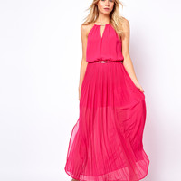 Oasis Pleated Maxi Dress With Belt