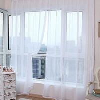 Simple Design Tulle Curtains For Living Room Balcony Transparent Tulle Curtains Window Sheer For Wedding Bedroom Decoration