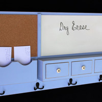Message Center - Cork Board - Dry Erase - Coat Hooks - Drawers