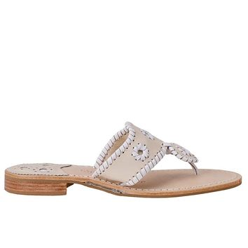 Jack Rogers Palm Beach Navajo - Bone / White Thong Sandal