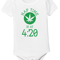 Nap Time is at 420 Baby Onesuit and Kids Shirt - Bodysuit - Newborn