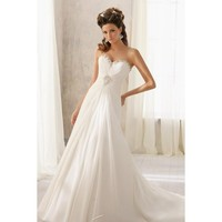 Marvelous Strapless Sweetheart Neckline Taffeta and Chiffon Wedding Dress
